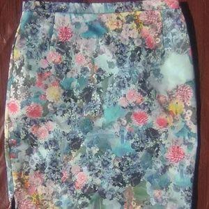 H&M Floral Pencil Skirt sz S